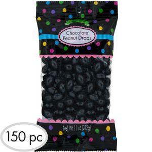 Black Peanut Chocolate Drops 150pc
