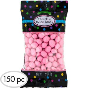 Pink Peanut Chocolate Drops 150pc
