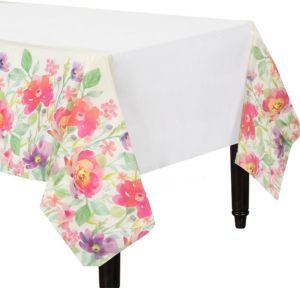 Watercolor Floral Table Cover