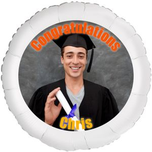 Custom Boy Graduation Photo Balloon