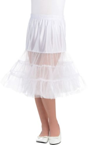 Child White Knee Length Petticoat