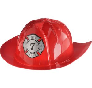 Bright Red Fireman Hat