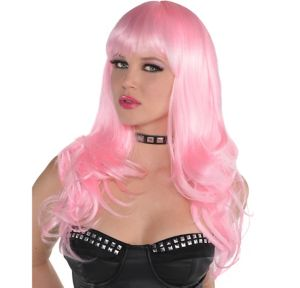 Long Wavy Light Pink Wig
