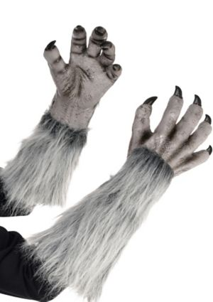 Gray Werewolf Gloves