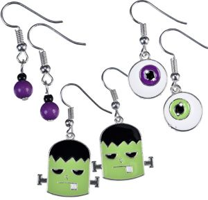 Eyeball & Monster Halloween Earrings Set 6pc