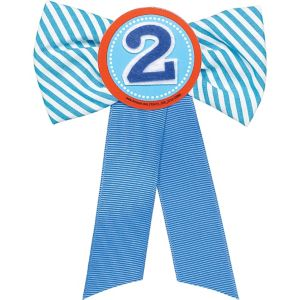 Blue 2nd Birthday Award Ribbon