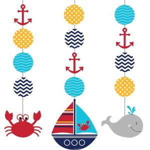 Ahoy Nautical String Decorations 3ct