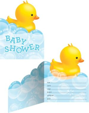Bubble Bath Baby Shower Invitations 8ct