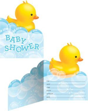 Bubble Bath Baby Shower Invitations 8ct