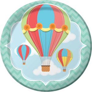 Up & Away Baby Shower Lunch Plates 8ct