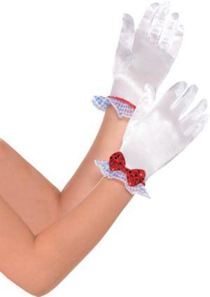 Child Dorothy Satin Gloves - Wizard of Oz