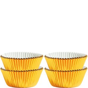 Mini Gold Baking Cups 75ct