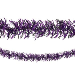 Black & Purple Tinsel Garland