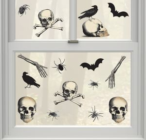Boneyard Halloween Cling Decals 15ct