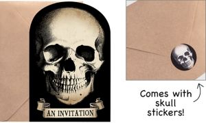 Boneyard Halloween Invitations 20ct