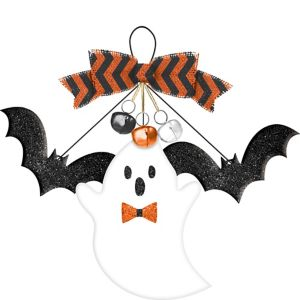 Bat & Ghost Halloween Sign