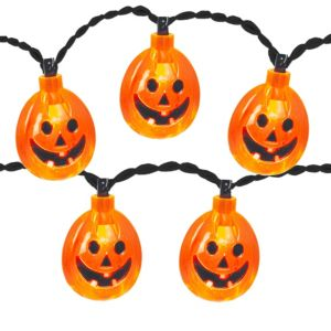 Mini jack o lantern string lights