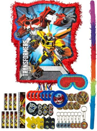 Red Transformers Pinata Kit with Favors
