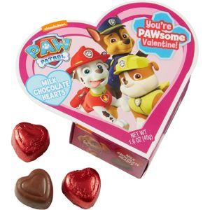 Purple PAW Patrol Heart Box of Chocolates 7pc