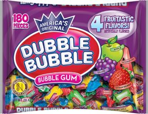 Assorted Fruit Dubble Bubble Gum 180ct