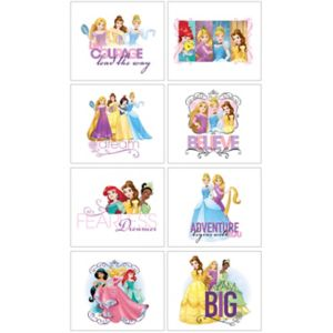 Disney Princess Tattoos 1 Sheet