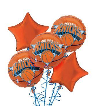 New York Knicks Balloon Bouquet 5pc - Basketball