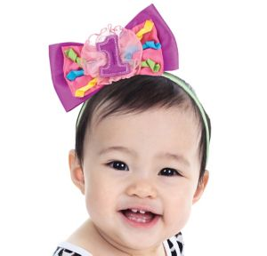 1st Birthday Bow Headband