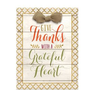 Glitter Give Thanks Sign