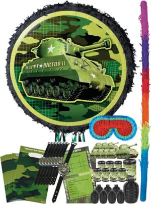 Camouflage Tank Pinata Kit with Favors