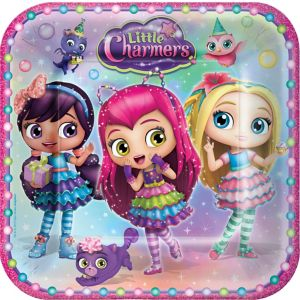 Little Charmers Lunch Plates 8ct
