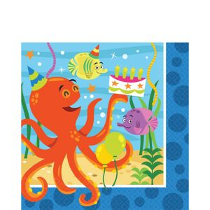 Under the Sea Birthday Lunch Napkins 16ct
