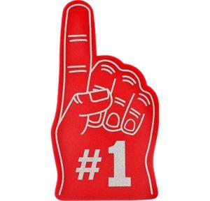 Red #1 Foam Finger