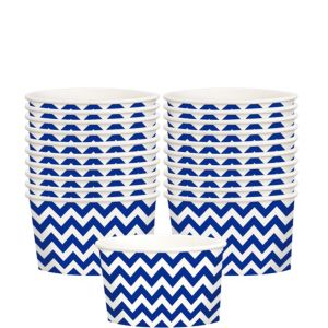 Royal Blue Chevron Paper Treat Cups 20ct