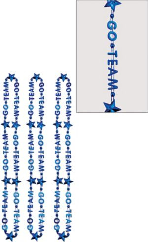 Blue Go Team Bead Necklaces 3ct