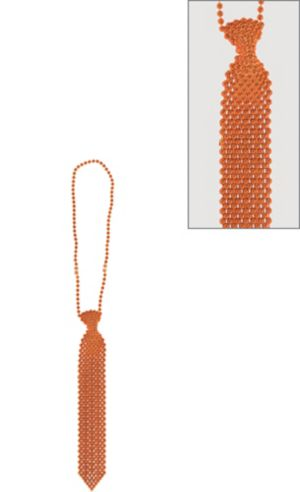Orange Tie Bead Necklace