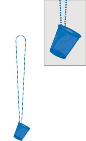 Blue Shot Glass Bead Necklace
