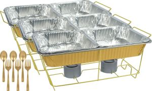 Gold Chafing Dish Buffet Set 24pc
