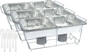 White Chafing Dish Buffet Set 24pc