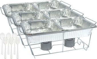 White Chafing Dish Buffet Set 24pc
