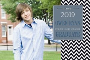 Custom Chevron and Matte Silver Photo Announcement