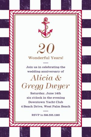 Custom Striped Nautical Invitation