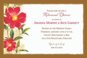Custom Botanical Peony Invitation