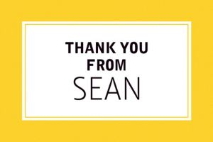 Custom Classic Yellow Graduation Thank You Note