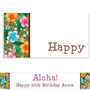 Custom Hawaiian Hibiscus Banner