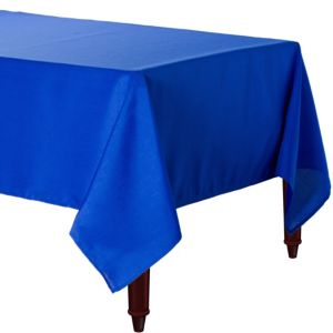 Royal Blue Fabric Tablecloth
