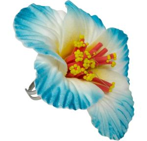 Blue Hibiscus Ring