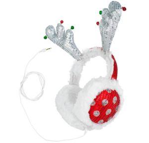 Sequin Antler Ear Muff Headphones