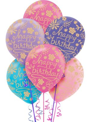 Floral Birthday Balloons 20ct
