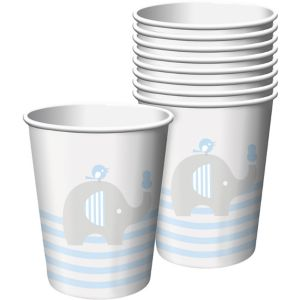 Blue Baby Elephant Paper Cups 8ct