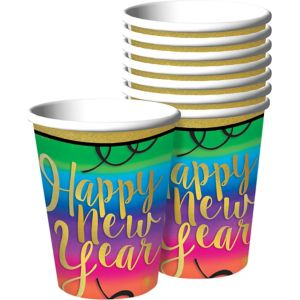 Colorful New Year's Cups 18ct